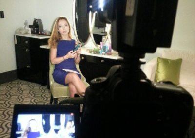 ъемки интервью Елены Захаровой (актрисы)