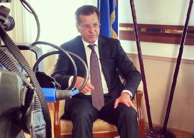 Съемки интервью губернатора Астраханской области