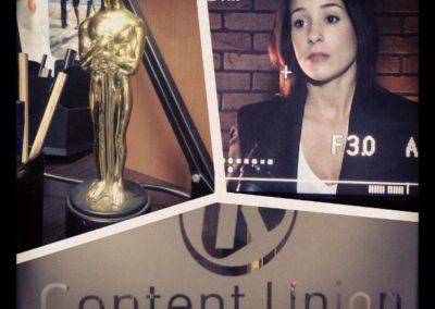 Съемки интервью Ольги Сутуловой, актриса