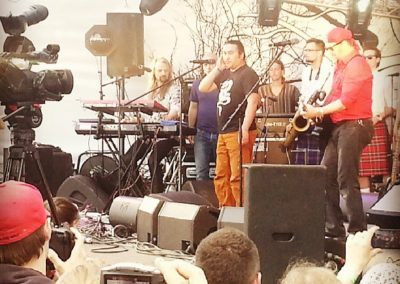 Съемки фестиваля Дикая Мята. Борис Гребенщиков